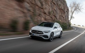 Picture road, Mercedes-Benz, speed, crossover, GLA, 4MATIC, GLA-Class, 2020, AMG Line, GLA 250