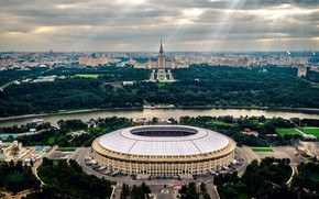 "Picture Stadium ""Luzhniki"", #SEMIACADEMIC, drone boys, Moscow, Luzhniki, Stadium, The world Cup 2018, Luzhniki, Russia, 2018, ..."