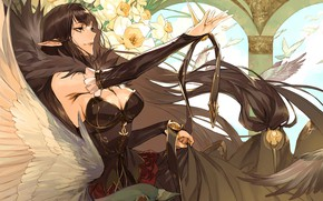 Picture girl, flowers, witch, pizza, Fate - Apocrypha, Fate Apocrypha