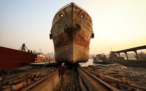 Picture ship, port, Builder