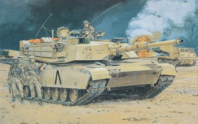 Picture MBT, main battle tank USA, Heavy Armor, Heavy armor, M1A1-HA, the tank is equipped with …