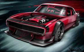 Picture Auto, Figure, Chevrolet, Machine, Camaro, Art, Chevrolet Camaro, 1968, Vehicles, Transport, Transport & Vehicles, Andreas …