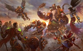 Picture the game, fantasy, art, battle, online, DragonFly Studio, Allods Online wallpapers