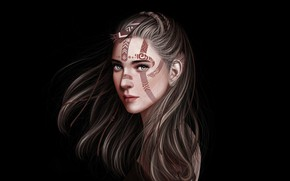 Picture Girl, Minimalism, Figure, Look, Blonde, Lips, Style, Face, Girl, Hair, Art, Beautiful, Art, Beauty, Style, …