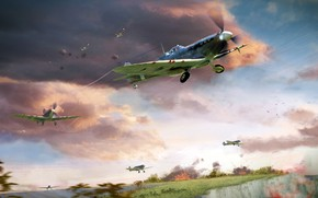Picture the rise, Spitfire, Battle of Britain, RAF, Royal air force, Supermarine, British fighter of world …