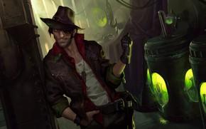 Picture hat, guy, barrels, Legends of Runeterra