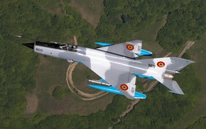 Picture Road, Forest, Fighter, The MiG-21, OKB Mikoyan and Gurevich, The BBC Romania