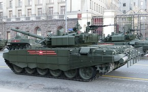 Picture tank, Moscow, T-72B3, rehearsal of the Victory Parade
