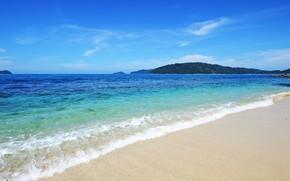 Picture sand, sea, shore, Malaysia, Borneo