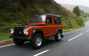 Picture road, Land Rover, 2009, Defender, Limited Edition