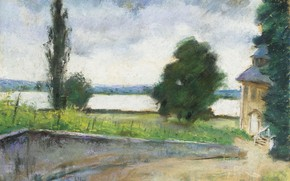 Picture landscape, picture, Lesser URY, Lesser Ury, The Lake house