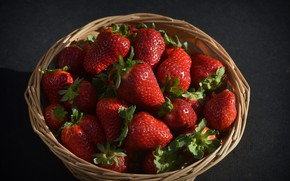 Picture background, strawberry, basket