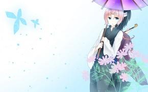 Picture umbrella, art, two, Gintama, Gintama
