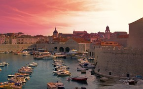 Picture port, fortress, Croatia, Dubrovnik