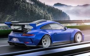 Picture coupe, sports car, Porsche 911 GT3, sports car, Javier Oquendo