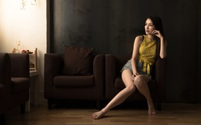 Picture girl, pose, Asian
