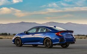 Picture blue, spoiler, Honda, sedan, Civic, 2020, 2019, You Sedan