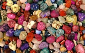 Picture macro, colorful, pebbles