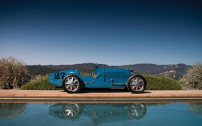 Picture Retro, 1927, Side view, Sports car, Bugatti Type 35C