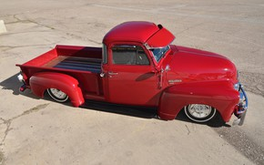 Picture Chevrolet, Red, Tuning, Pickup, Low, 3100