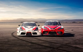 Picture Toyota, front view, Supra, 2018, GR Supra Racing Concept, Xfinity