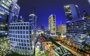 Picture night, the city, building, beauty, Thailand, Bangkok