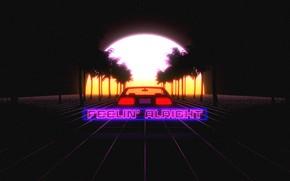 Picture DeLorean, DMC-12, Transport & Vehicles, Illustration, 80s, Music, Art, Car, Style, Trey Trimble, Transport, by …