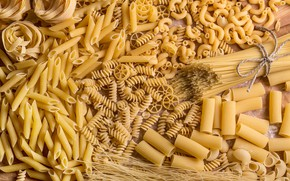 Picture placer, a lot, different, pasta, cuts, pasta