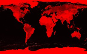 Picture map, Earth, continents