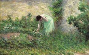 Picture landscape, picture, 1902, Maximilien Luce, Maximilien Luce, Gisors. Woman Collecting Flowers