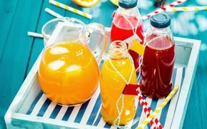 Picture juice, banks, pitcher, fruit