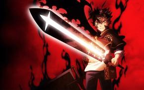Picture sword, guy, Black Clover, Black clover