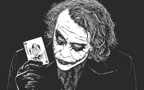 Picture map, art, Joker, villain, h\b, Joker, DC Comics, враг Бэтмена