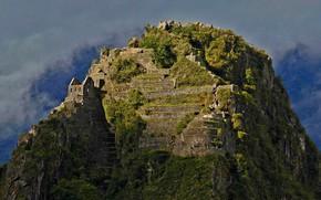 Picture mountain, ruins, Peru, Huayna Picchu