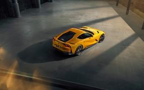 Picture machine, yellow, lights, Ferrari, stylish, sports, Superfast, 812, by Novitec