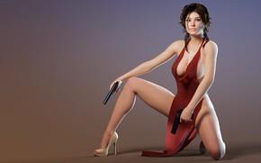 Picture gun, in red, girl art