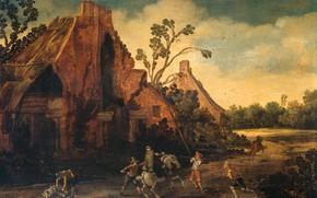 Picture oil, picture, Esaias van de Velde, Esaias van de Velde, 1616, Ограбление