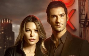 Picture look, girl, male, Lucifer, Tom Ellis, Lauren German