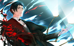 Picture blood, guy, Sherlock Holmes, Fate / Grand Order, The destiny of a great campaign