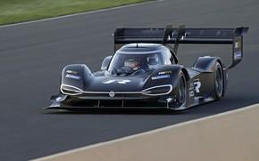 Picture black, Volkswagen, prototype, prototype, 2018, on the track, I.D. R