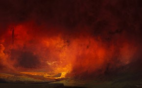 Wallpaper Smoke, Fire, Death, The devil, Hell, Francesco Lorenzetti, by Francesco Lorenzetti, afterdeath, Hellmouth