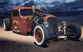 Picture Car, Old, Tuning, Custom, Rat Rod