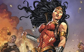 Picture girl, fantasy, Wonder Woman, soldiers, comics, artwork, warrior, fantasy art, Diana Prince, Dc Comics, superheroine, …