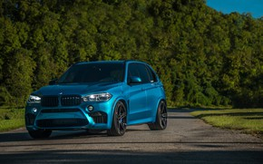Picture BMW, Light, Blue, Green, X5M, Sight, LED, F85
