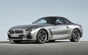 Picture grey, BMW, Roadster, BMW Z4, M40i, Z4, the soft top, 2019, G29