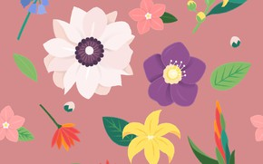 Picture flowers, background, texture, Flower, Vintage, Blossom