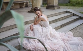Picture style, model, dress, stage, the bride