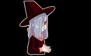 Picture halloween, witch, witch hat, witch, black magic, by Nintenloid