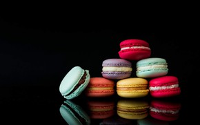 Picture colorful, cookies, dessert, macarons, baking