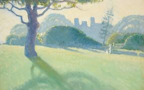 Picture landscape, picture, 1918, Roy De Maistre, Roy de Maistre, Across the Domain